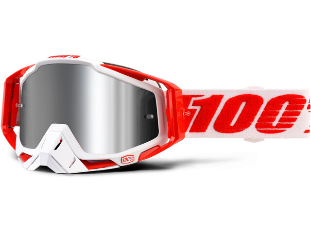 100% Racecraft - Gafas enduro - Plus Injected rojo/blanco